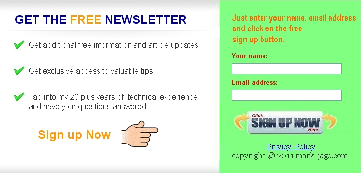 Mark-jago.com squeeze page