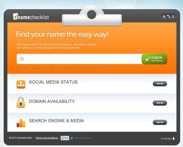 Namechecklist.com